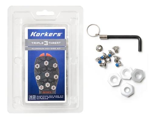 Korkers Triple Threat Aluminum Hex Disc Kit