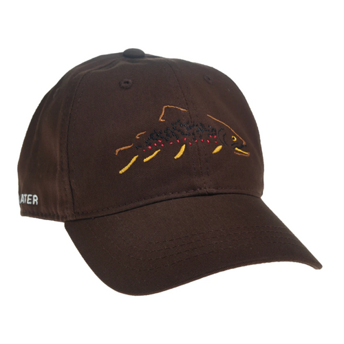 Rep Your Water Minimalist Brown Unstructured Hat