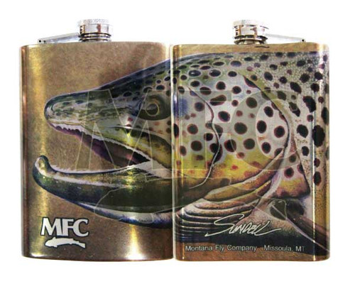 Montana Fly Company Stainless Steel Hip Flasks