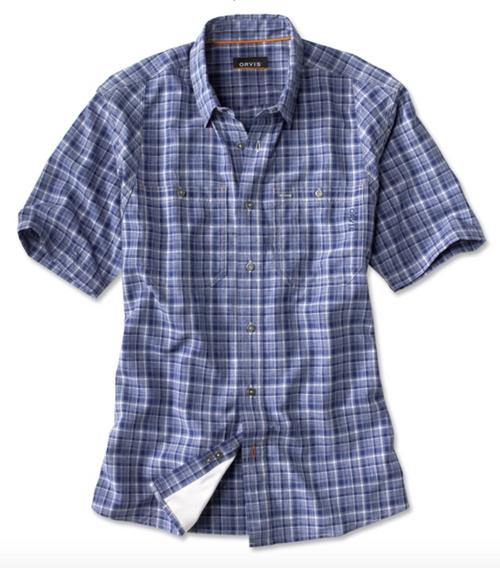Orvis Tech Chambray Plaid Work Shirt