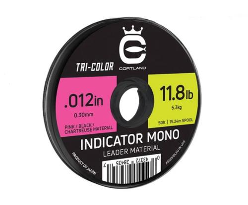 Cortland Indicator Mono Leader material - Tricolor