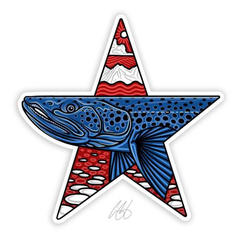 Casey Underwood Star Brown Decal Sticker