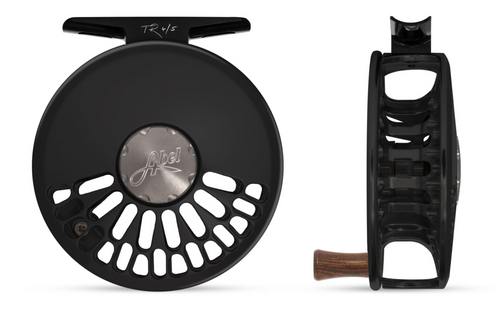 Abel TR Fly Reel - Basic Black - 4/5 WT with Rosewood Handle