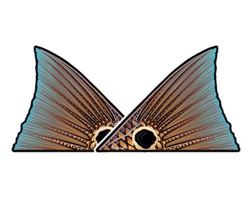 Casey Underwood Tailing Redfish Decal Sticker