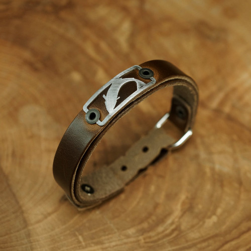 Sight Line Provisions Trout Skinny Brown Bracelet