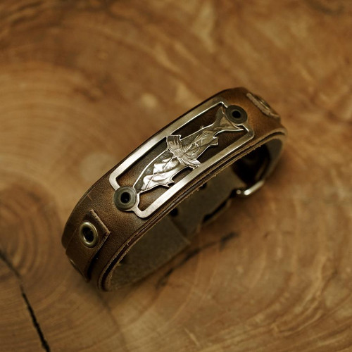Sight Line Provisions Lost Cast Collection - Oyster Bamboo Edition - Bronze No. 1 Brown Bracelet