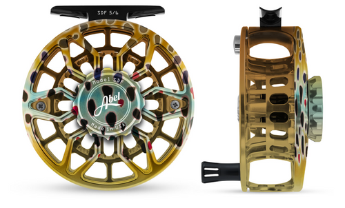 Abel SDF Fly Reel Ported - Native Brown - 5/6 WT with Aluminum Black Handle