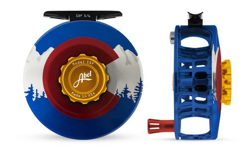 Abel SDF Fly Reel - Colorado Edition - 5/6 WT with Aluminum Red Handle