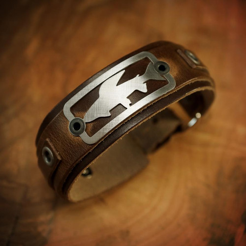 Sight Line Provisions Grayling Horween Brown Bracelet