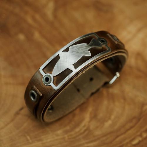 Sight Line Provisions Redfish Horween Brown Bracelet