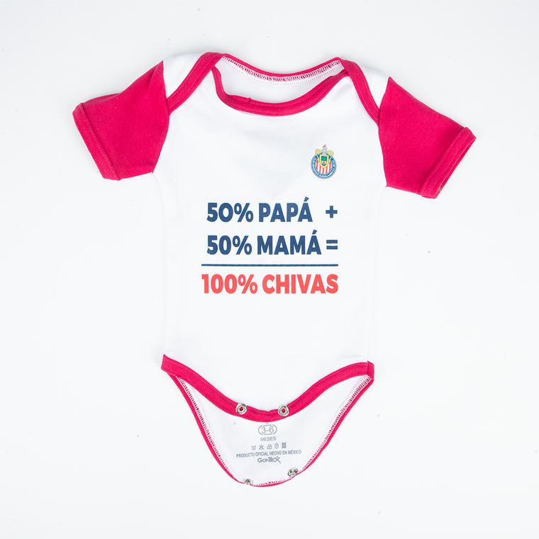 PAÑALERO 100% CHIVAS BLANCO CON ROSA NIÑA