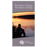 """The Purpose of Living...The Purpose of Dying"" booklet cover"