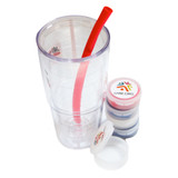 Silicone straws with case.  *Cup not included.*