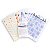 Neighborhood Bingo Cards - Set of 12 with sticker sheets