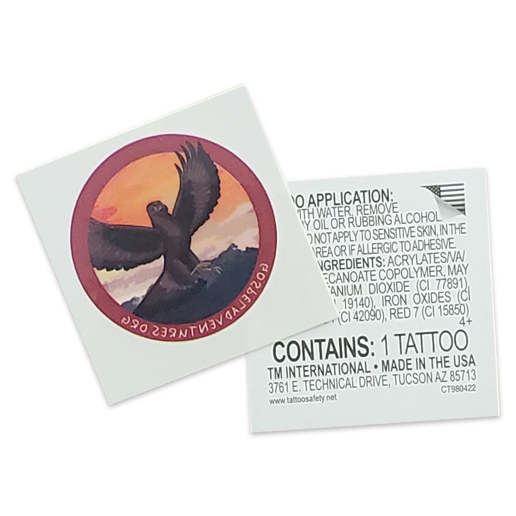Gospel Adventures Temporary Tattoos (Pack of 100) (Eagle design)
