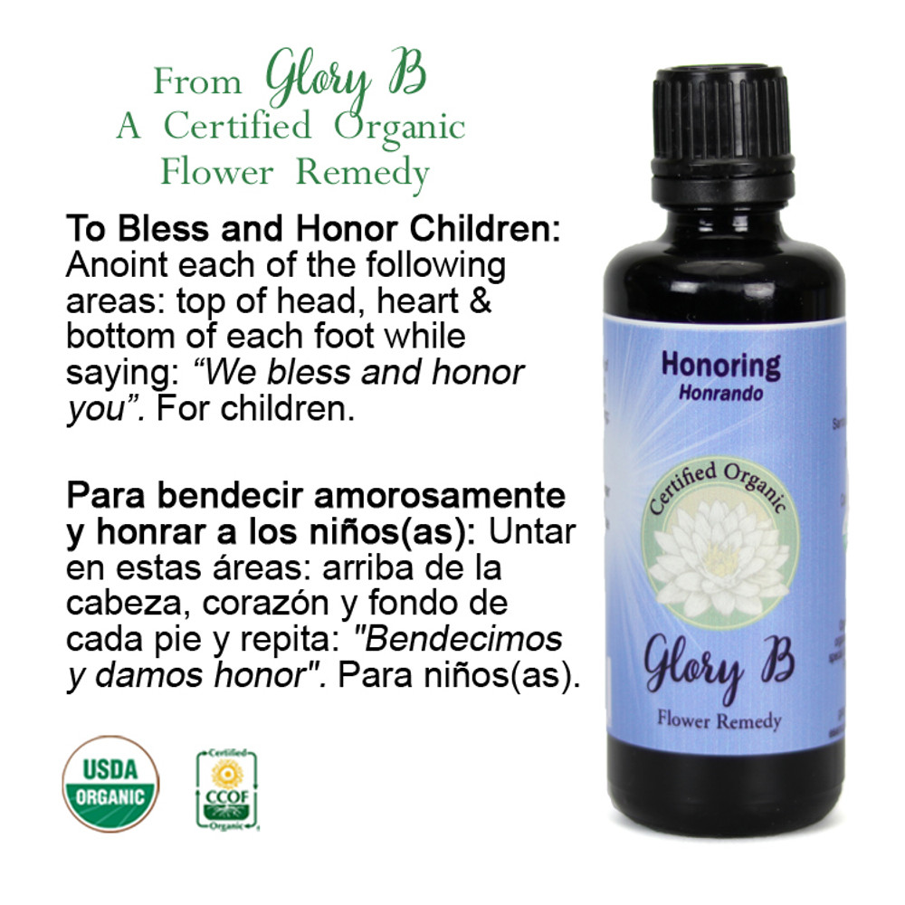 HONORING an anointing blend used to  bless and honor children of all ages