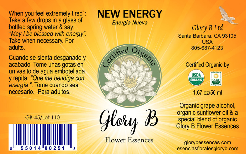 NEW ENERGY  for when you need a boost