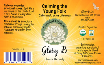 CALMING THE YOUNG FOLK brings order &  inner balance to emotions