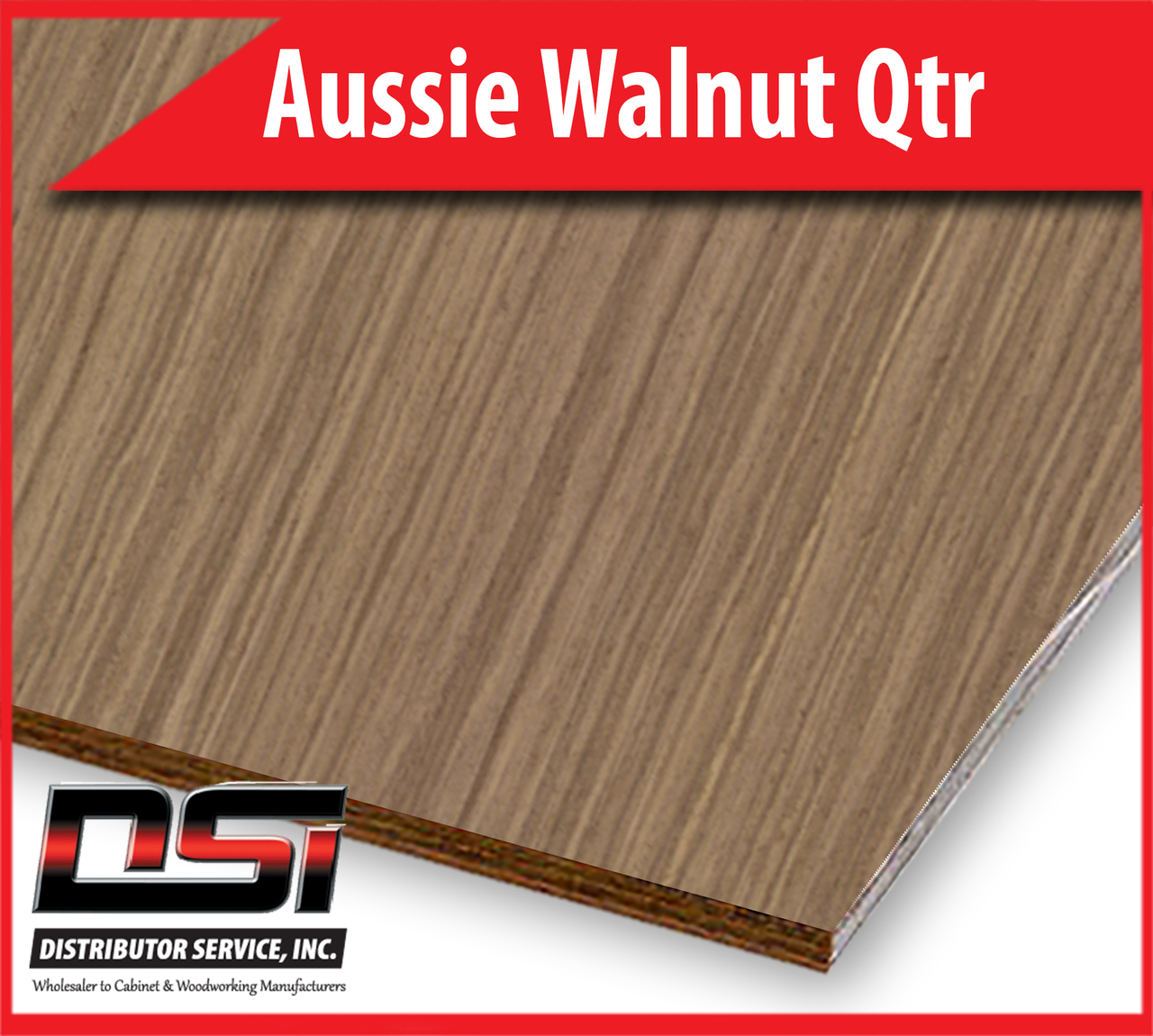 "Aussie Walnut Plywood Qtr A-A Pluma Ply VC 1/2"" x 4x8"