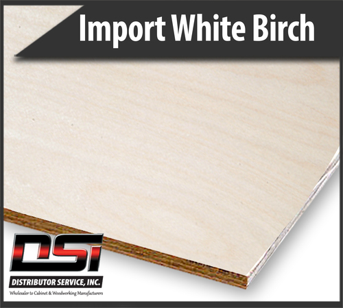 Imported White Birch Plywood RC VC C2 WPF UV1S 9mm x 48.5 x 96.5