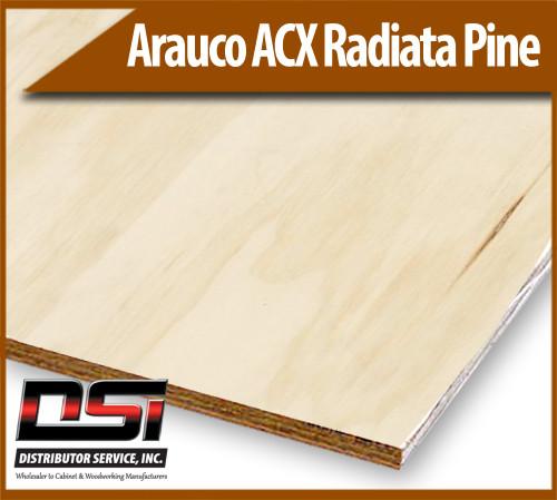 "Arauco Plywood ACX Radiata Pine Ext Glue 15/32"" x 4x8"