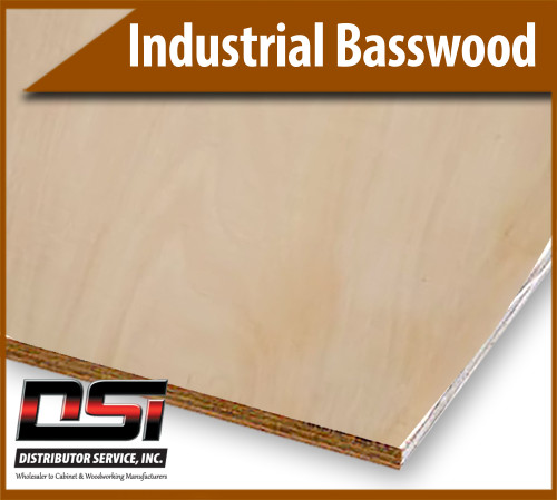 """Industrial Basswood VC LSO/LSO G2S 3/4"""" x 4x8"""