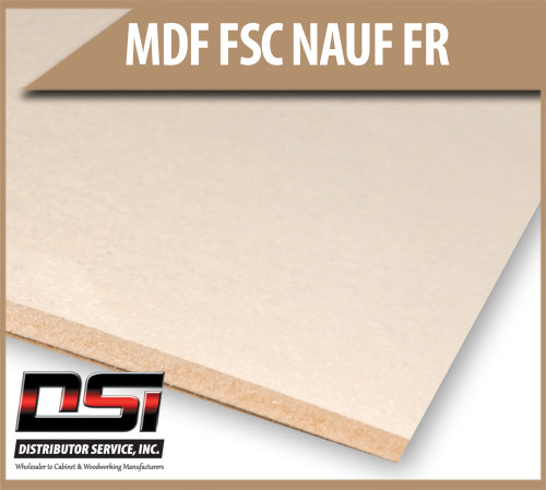 "Medium Density Fibreboard FSC NAUF FR MDF Panels 11/16"" x 49"" x 121"""