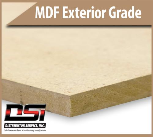"Medium Density Fibreboard MDF Panels Exterior Grade 1/2"" x 49"" x 97"""