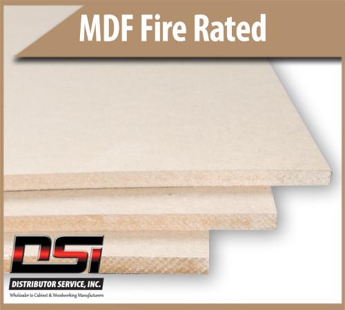 "Medium Density Fibreboard Fire Rated MDF Panels 1/2"" x 49"" x 97"""