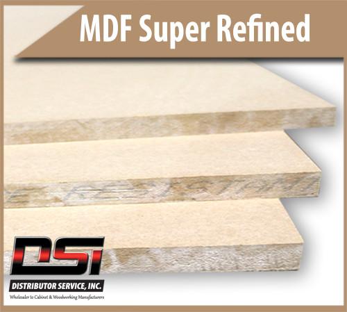 "Medium Density Fibreboard Super Refined MDF Panels 1/4"" x 49"" x 97"""