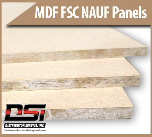 "Medium Density Fibreboard FSC NAUF MDF Panels 11/16"" x 61"" x 121"""