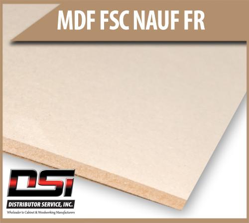 "Medium Density Fibreboard FSC NAUF FR MDF Panels 1/2"" x 49"" x 97"""