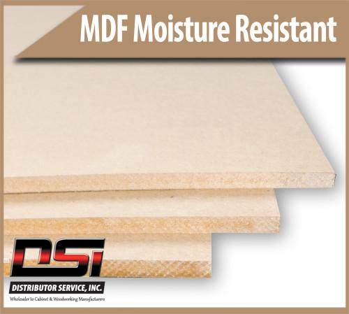"Medium Density Fibreboard Moisture Resistant MDF Panels 1/2"" x 49"" x 97"""