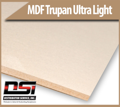 """Medium Density Fibreboard Ultra Light MDF Trupan 18mm x 49"""" x 97"""""""
