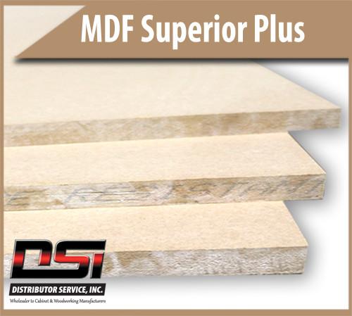 "Medium Density Fibreboard Superior Plus MDF Panels 3/4"" x 61"" x 121"""