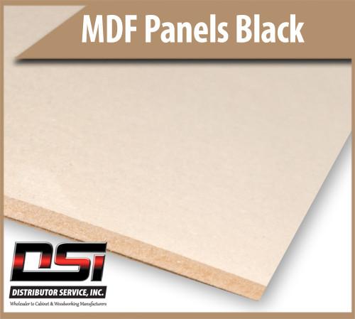 "Medium Density Fibreboard MDF Panels Black 18mm x 48"" x 96"""