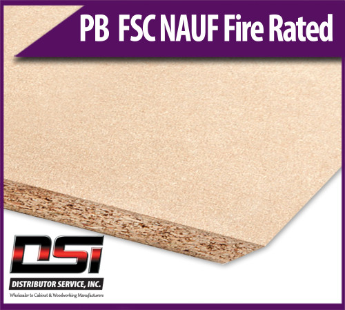 """Particle Board Core FSC NAUF Fire Rated 11/16"""" x 49"""" x 121"""" Industrial Particleboard Panels"""