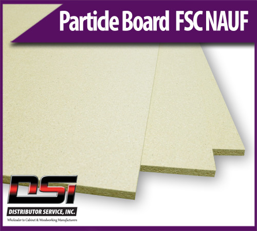 """Particle Board Core FSC NAUF 11/16"""" x 49"""" x 121"""" Industrial Particleboard Panels"""