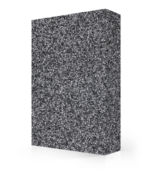 "Avonite Solid Surface Black Lava Acrylic Sheet 1/2"" x 30"" x 144"""