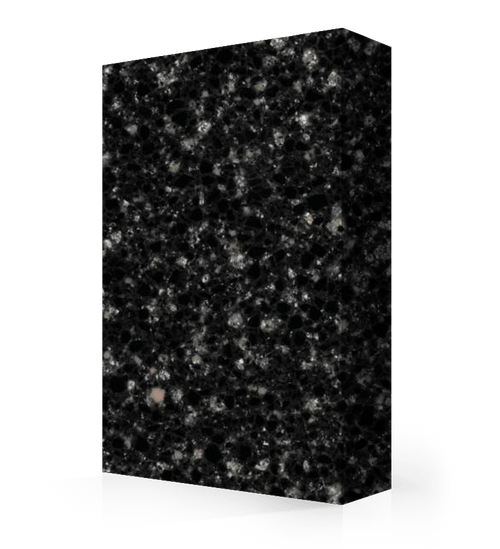 """Studio-Collection-Black Ice Polyester Sheet 1/2"""" x 36"""" x 120"""""""