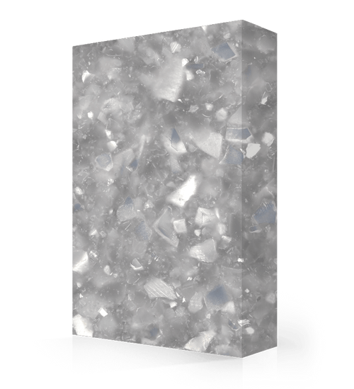 """Studio-Collection-Silver Pearl Polyester Sheet 1/2"""" x 36"""" x 120"""""""
