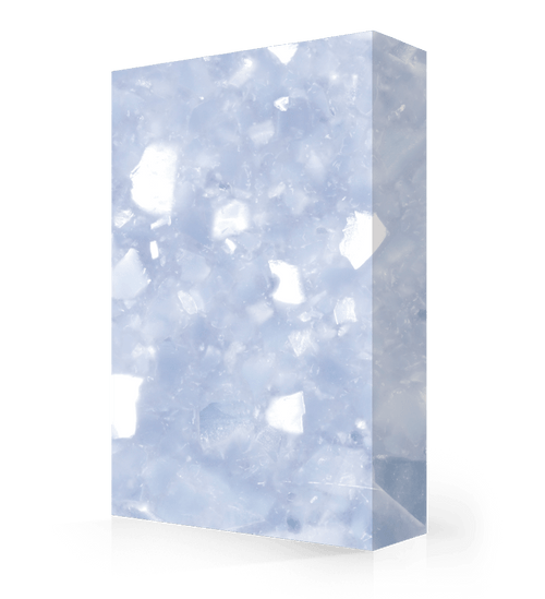 """Studio-Collection-Celestial Pearl Polyester Sheet 1/2"""" x 36"""" x 120"""""""