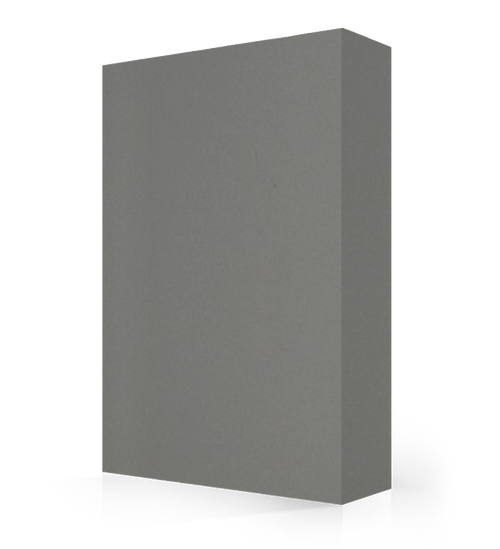 """Studio-Collection-Pewter Polyester Sheet 1/2"""" x 36"""" x 120"""""""