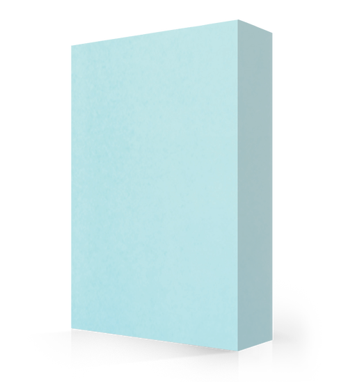 "Studio-Collection-Pure Aqua Polyester Sheet 1/2"" x 36"" x 120"""