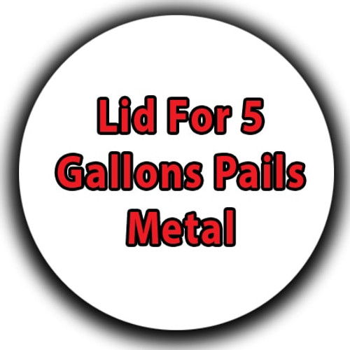 Professional Wood Finish Lid For 5 Gallons Pails Metal