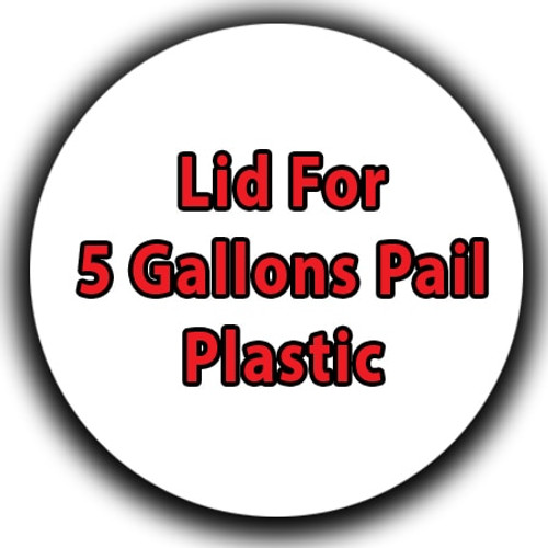 Professional Wood Finish Lid For 5 Gallons Pail Plastic