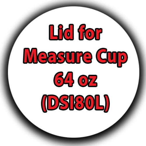 Professional Wood Finish Lid for Measure Cup 64 oz (DSI80L)