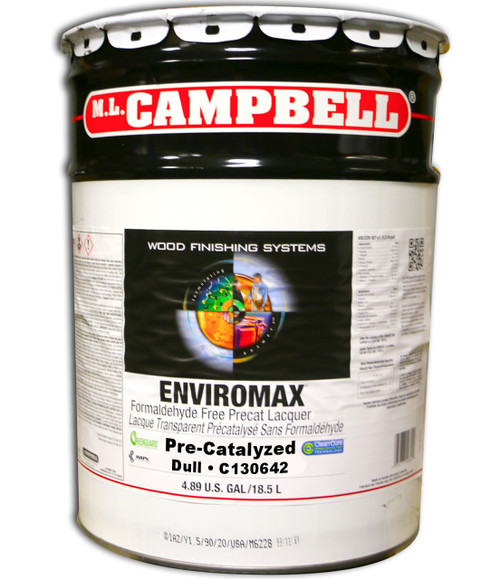 ML Campbell EnviroMax Formaldehyde Free Clear Pre-cat Dull 5 Gallons