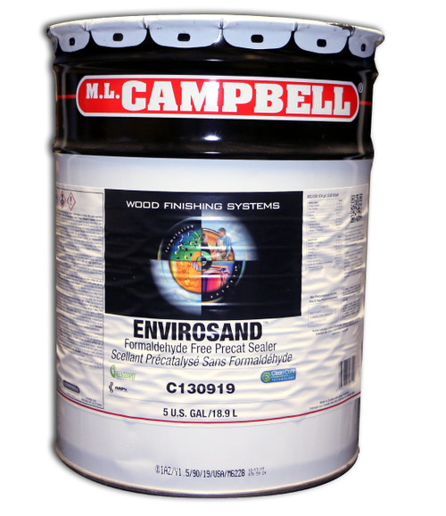 ML Campbell EnviroSand Formaldehyde Free Clear Sealer Pre-Cat 5 Gallons