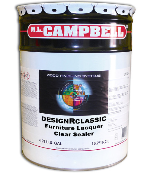 ML Campbell DesignRclassic Furniture Lacquer Clear Sealer 5 Gallons